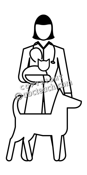 Black and white clipart vet clip art freeuse Download Free png Vet Black And White Clipart - DLPNG.com clip art freeuse