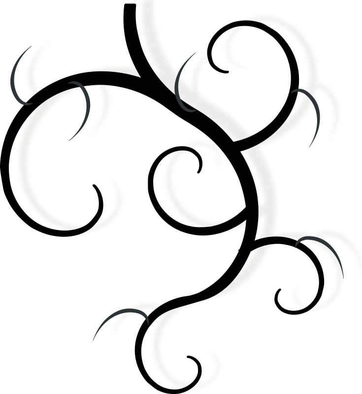 Pumpkin vine clipart black and white banner royalty free stock Clipart - design element: swirl banner royalty free stock