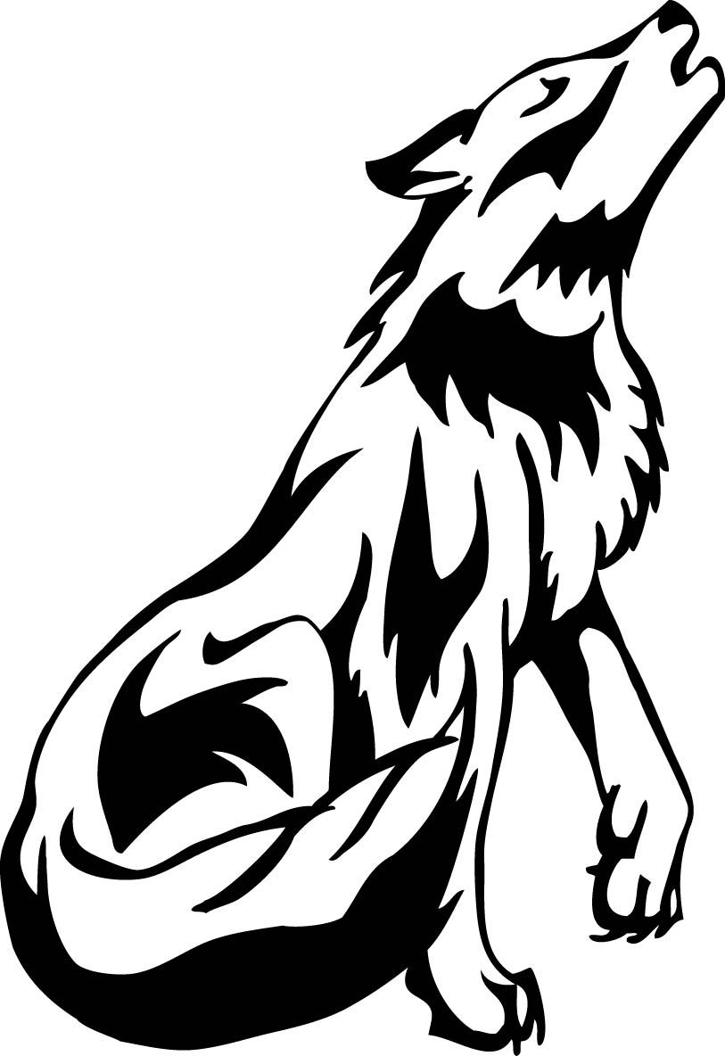 Black and white clipart wolf banner free download Wolf black and white clipart 5 » Clipart Station banner free download