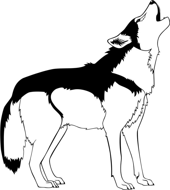 Wolf clipart black and white vector free stock Wolf black and white clipart clipart kid - Cliparting.com vector free stock