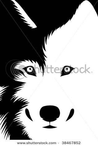 Black and white clipart wolf banner freeuse download picture of a wolf in black and white in a vector clip art ... banner freeuse download
