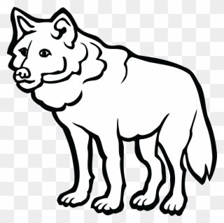 Black and white clipart wolf