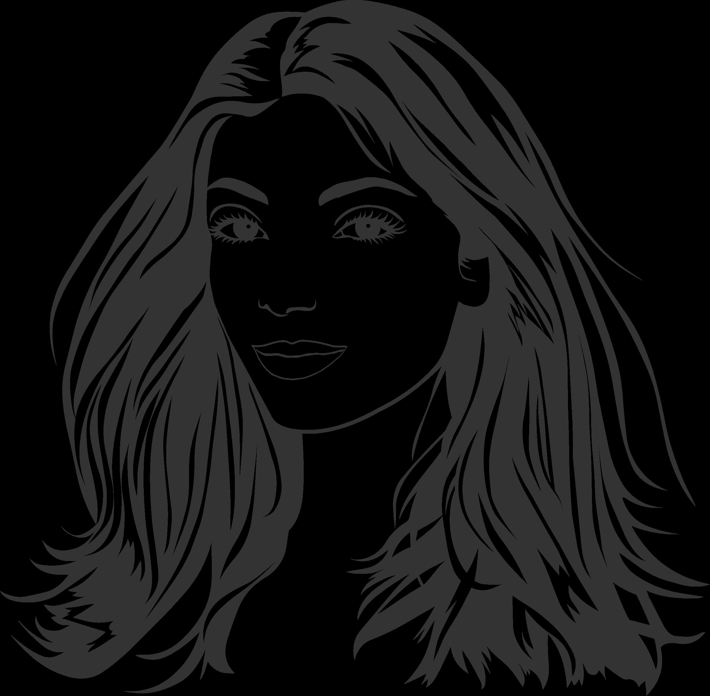 Long hair clipart jpg free download Free Woman Black And White Clipart, Download Free Clip Art, Free ... jpg free download