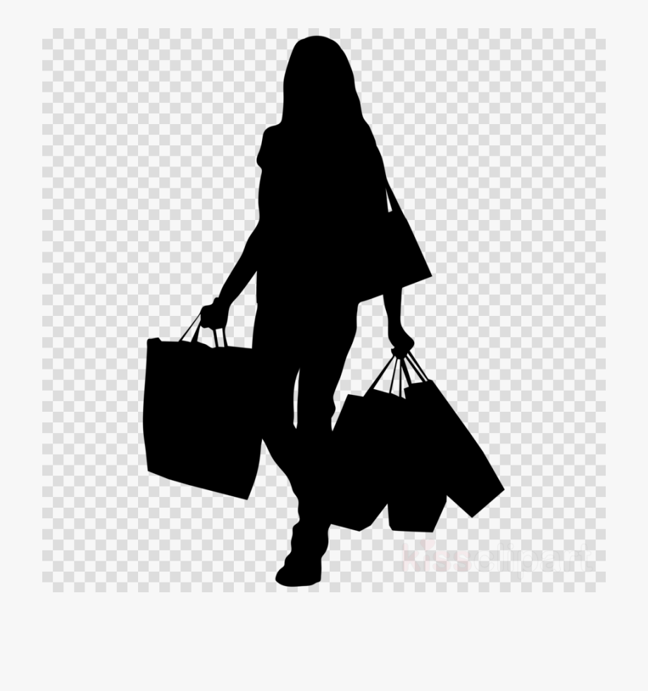 Black and white clipart women shopping at the grocery store picture royalty free library Shopping, Woman, Transparent Png Image & Clipart Free - Shopping ... picture royalty free library