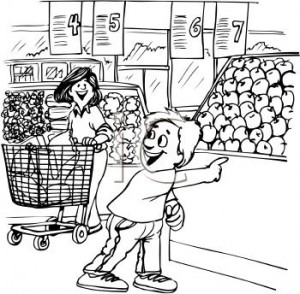Black and white clipart women shopping at the grocery store clip stock Shopping Clipart Black And White & Free Clip Art Images #10434 ... clip stock
