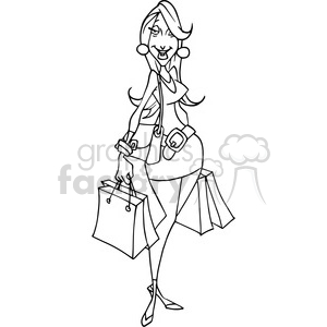 Black and white clipart women shopping at the mall black and white mall clipart - Royalty-Free Images | Graphics Factory black and white