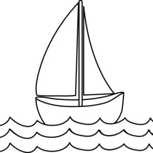 Black and white clipart yacht jpg freeuse library Free Coloring Page Clip Art Image: Sailboat Coloring Page   Bell ... jpg freeuse library