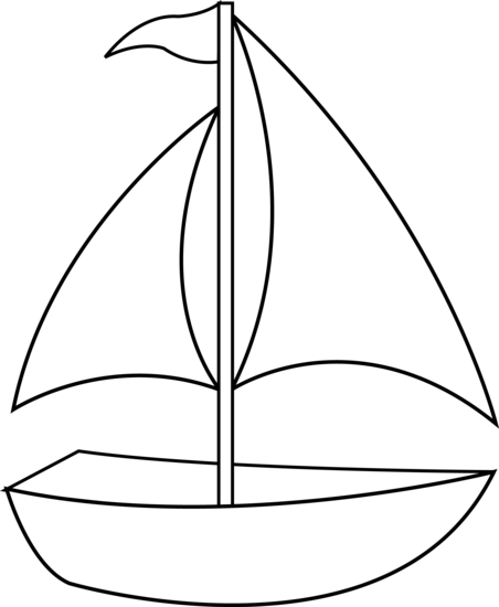 Black and white clipart yacht clip royalty free library sailboat clip art   Colorable Sailboat Line Art   Classroom ... clip royalty free library