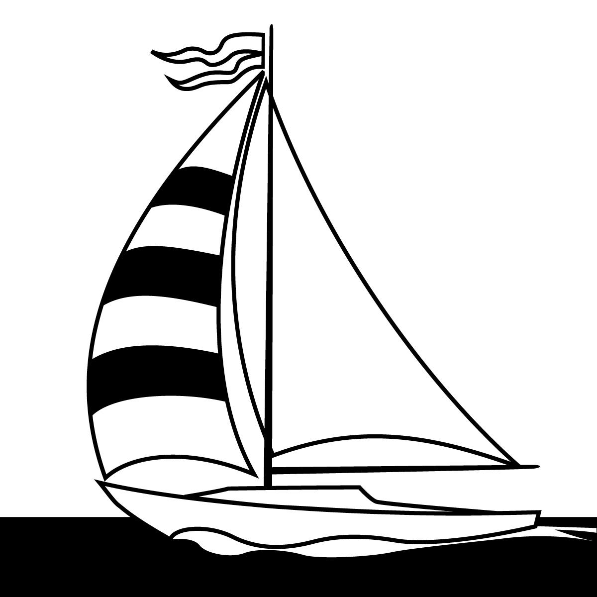 Yacht clipart illustrations