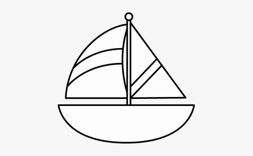 Black and white clipart yacht banner free Black And White Striped Sailboat - Black And White Clip Art Boat PNG ... banner free