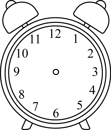 Black and white clock clipart without hands
