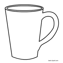 Black and white coffee mug clipart graphic free download Black and white coffee mug clip art free | Free Clip Art for ... graphic free download