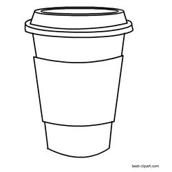 Black and white coffee mug clipart banner transparent download Black and white coffee mug clip art free | Free Clip Art for ... banner transparent download