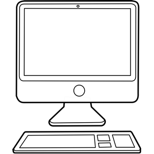 Black and white computer clipart png library download Computer black and white computer clipart black and white free clip ... png library download