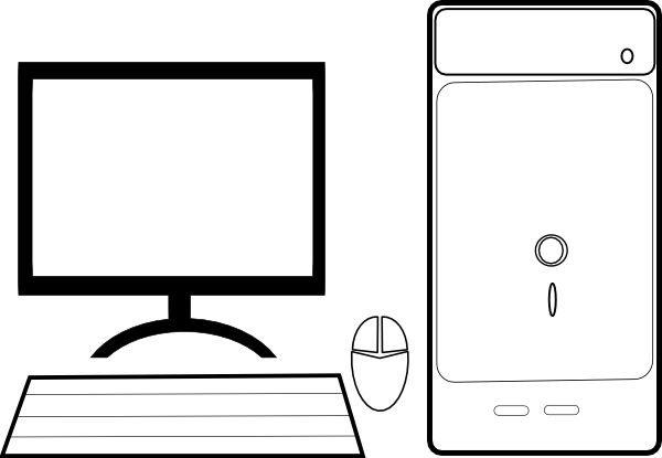 Black and white computer clipart image transparent library Computer clipart black and white 3 » Clipart Station image transparent library