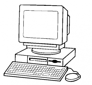 Black and white computer clipart vector stock 80+ Computer Clipart Black And White | ClipartLook vector stock