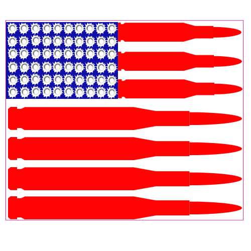 Black and white cool flag made of bullets clipart clipart black and white stock Bullet Flag Sticker clipart black and white stock