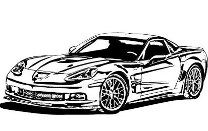 Black and white corvette clipart clip free library Corvette clipart free clip free library