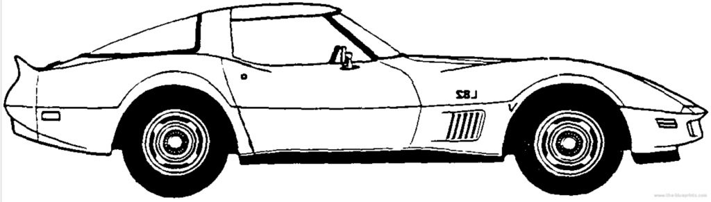 Black and white corvette clipart banner library download Corvette Clipart | k2h banner library download