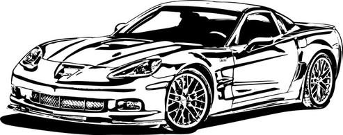 Black and white corvette clipart picture royalty free download Free Corvette Cliparts, Download Free Clip Art, Free Clip Art on ... picture royalty free download