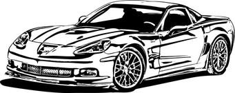 Black and white corvette clipart graphic free library Corvette clipart 6 2 - WikiClipArt graphic free library