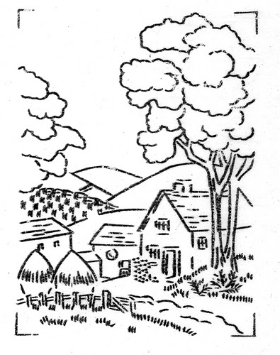 Black and white countryside clipart banner Countryside clipart black and white 2 » Clipart Station banner