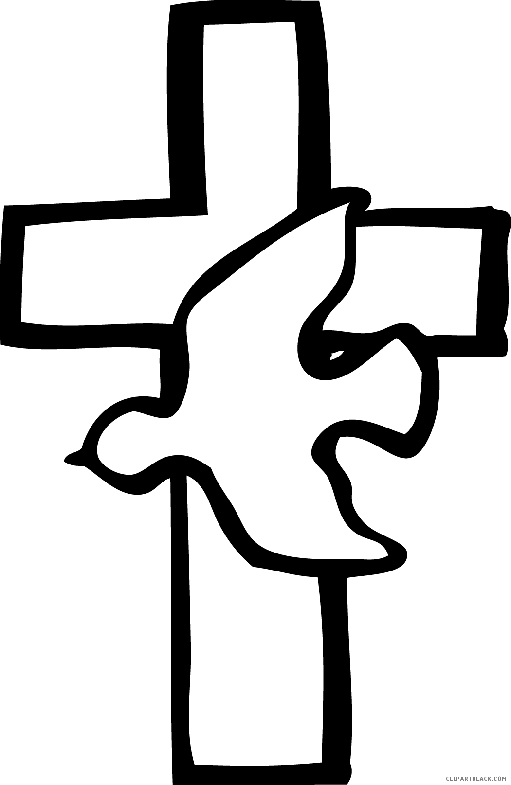 Small cross clipart black and white jpg free Cross Dove Clipart - ClipartBlack.com jpg free