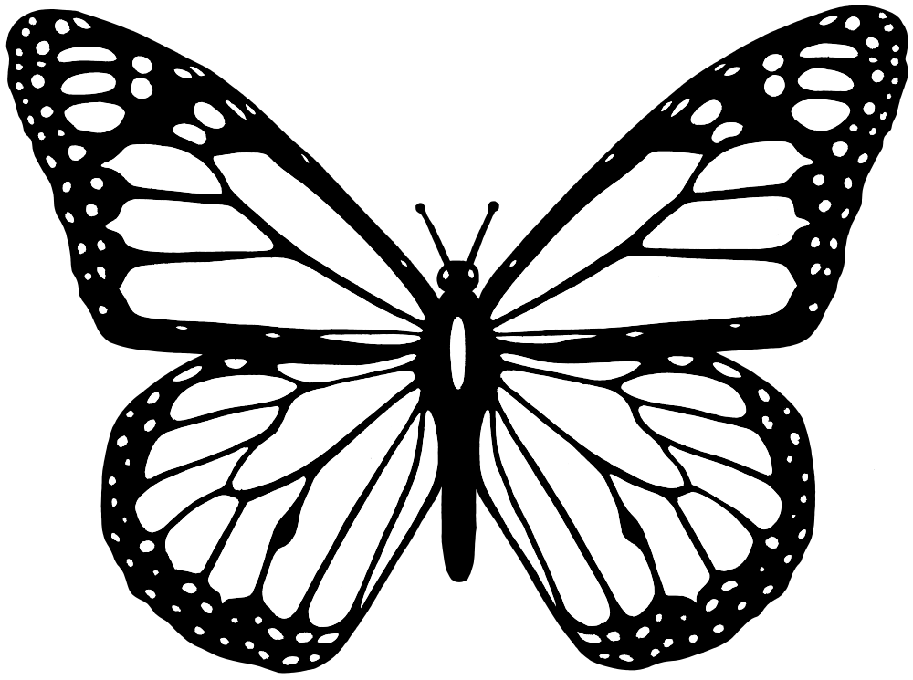 Black and white cross with butterfly clipart png free stock OnlineLabels Clip Art - Black And White Butterfly png free stock