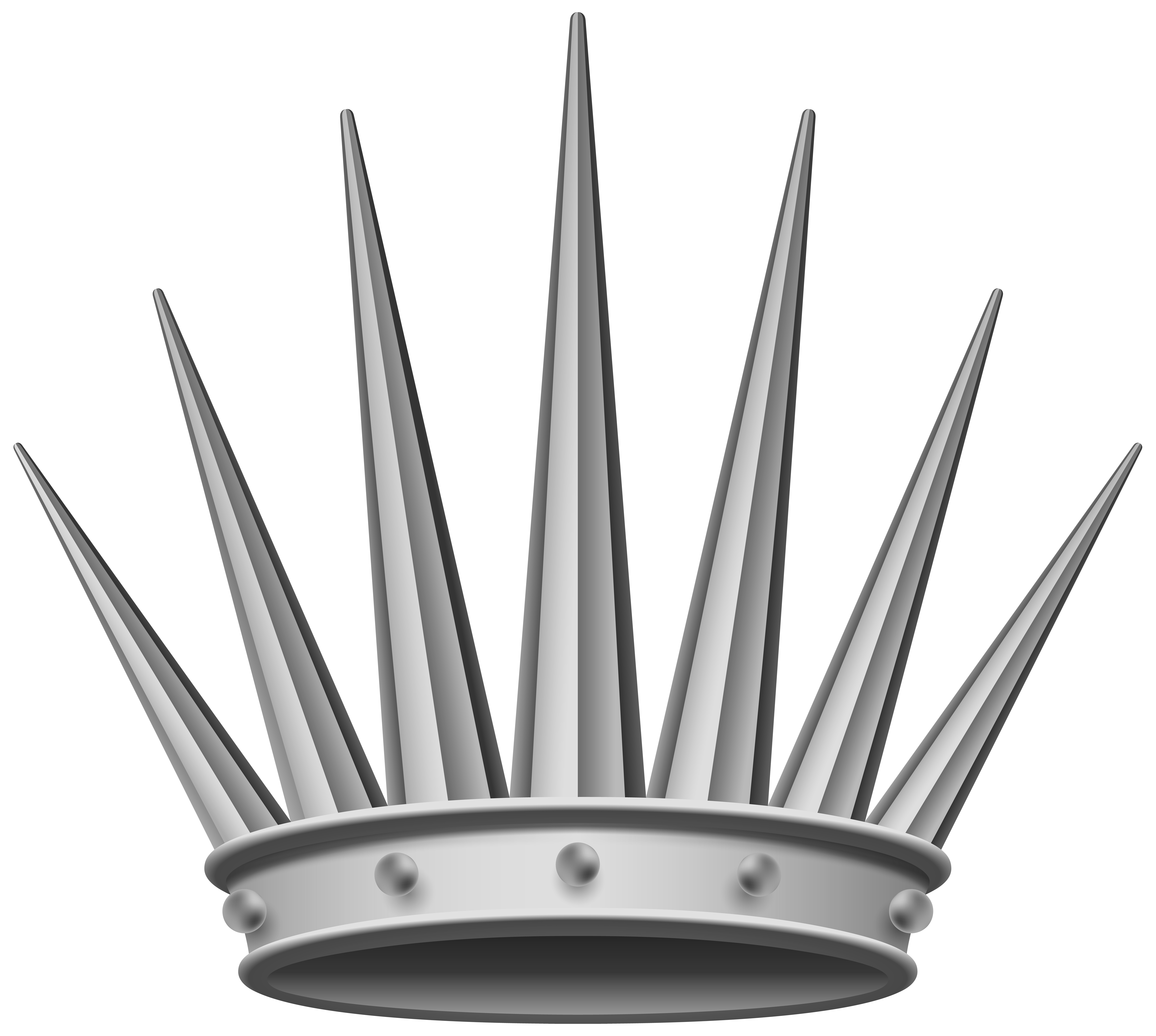 Silver shine crown clipart clip free stock Silver Crown Transparent PNG Clip Art Image | Gallery Yopriceville ... clip free stock