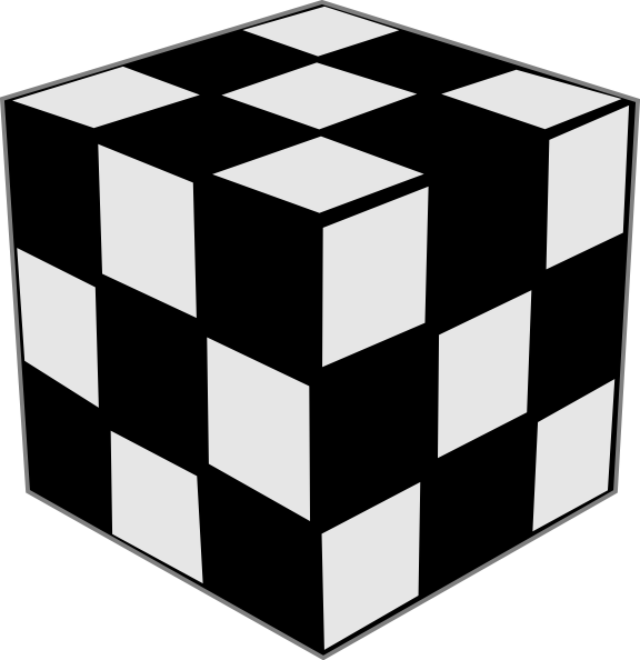 Black and white cube clipart banner freeuse Rubik Cube Black & White Clip Art at Clker.com - vector clip art ... banner freeuse
