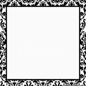 Black and white damask clipart border free jpg Black And White Damask Clipart Border Free | Free Images at Clker ... jpg