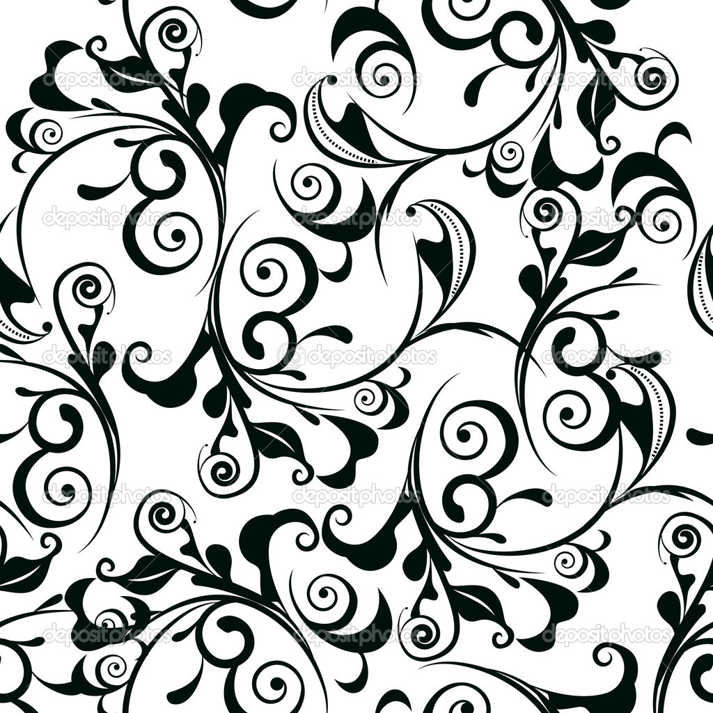 Black and white damask clipart border free png transparent download Black And White Damask Border Clip Art N2 free image png transparent download