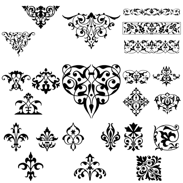 Black and white damask clipart border free svg royalty free library vintage borders, borders, frames, ornaments, free, clipart, clip art ... svg royalty free library
