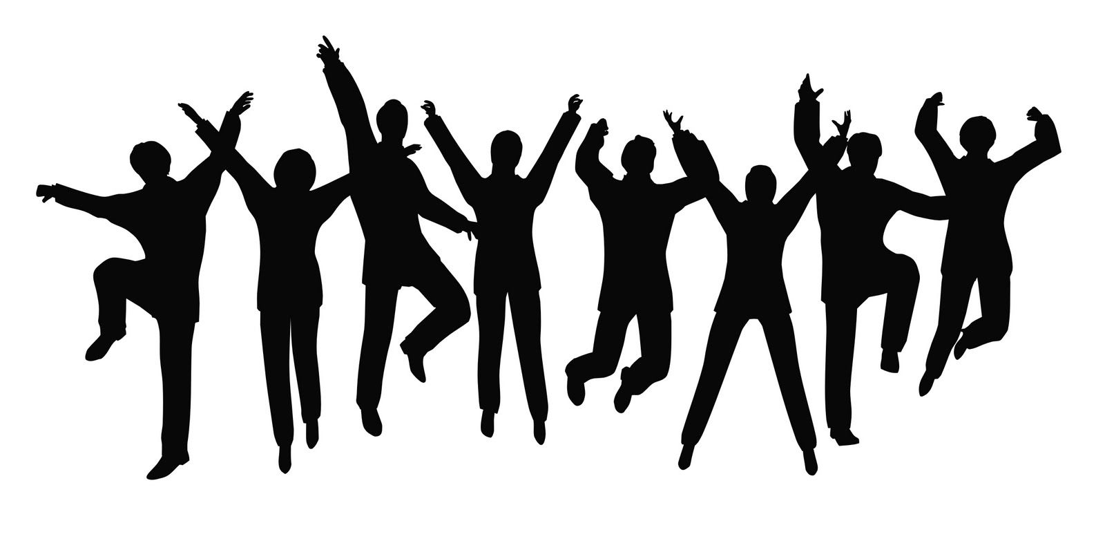 Free clipart of a outlining of crowd dancing png transparent download Dance Clip Art Black And White | Clipart Panda - Free Clipart Images ... png transparent download