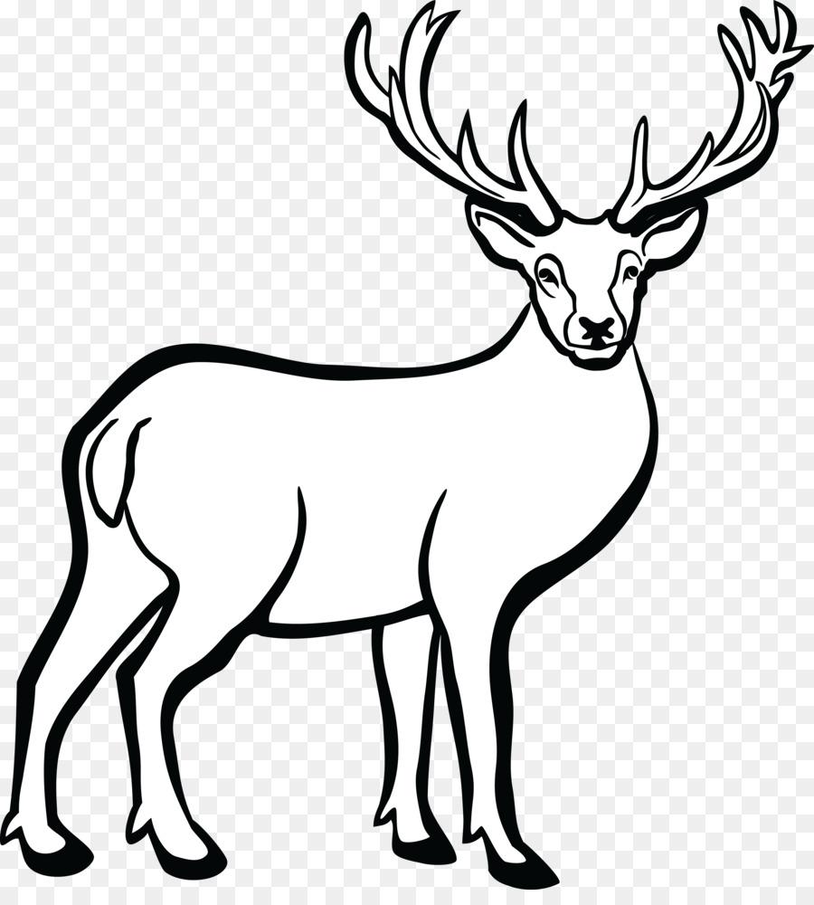 Black and white deer clipart svg transparent Black Line Background png download - 4000*4368 - Free Transparent ... svg transparent