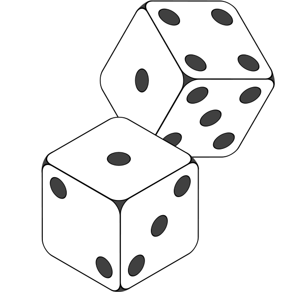 Black and white dice clipart graphic Free Images Of Dice, Download Free Clip Art, Free Clip Art on ... graphic
