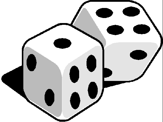 Free clipart of black and white dice picture royalty free library Dice Clip Art Black White | Clipart Panda - Free Clipart Images picture royalty free library