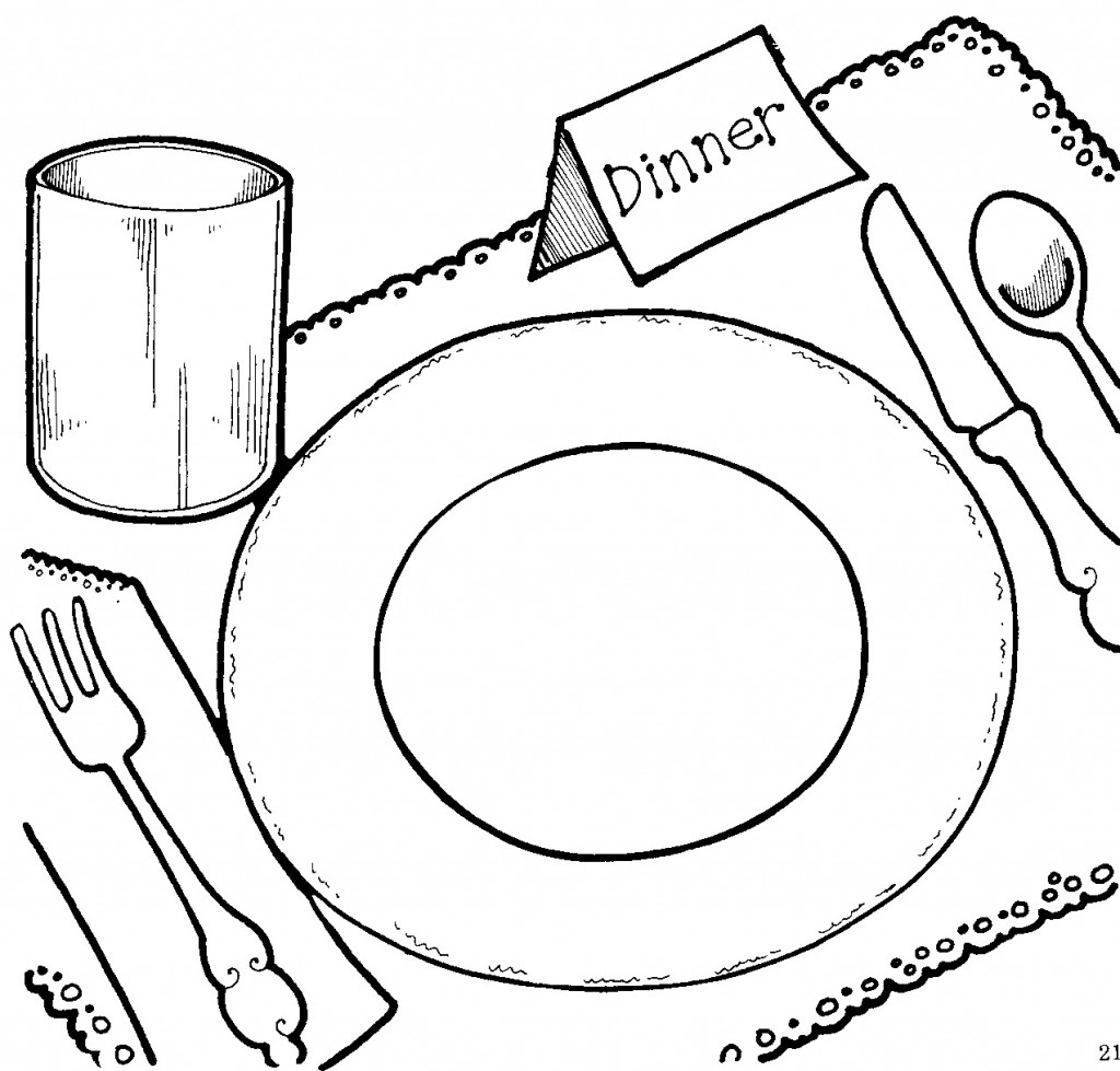 Black and white dinner clipart graphic free stock Thanksgiving dinner clipart black and white clip art - Cliparting.com graphic free stock