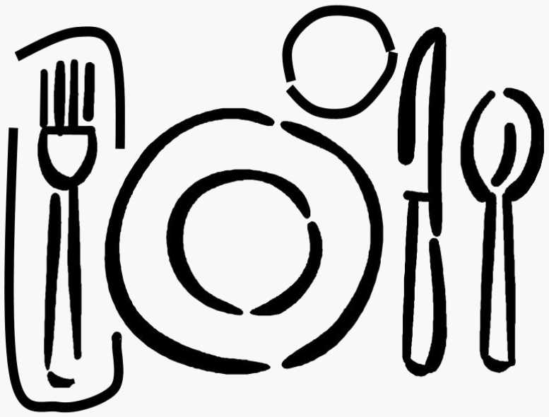 Black and white dinner clipart clip free library Free Dinner Clip Art, Download Free Clip Art, Free Clip Art on ... clip free library