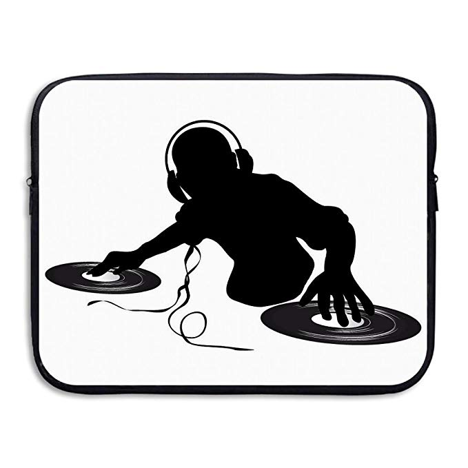 Black fabric fring cliparts black and white Amazon.com: Laptop Sleeve Case DJ Clipart Black And White Briefcase ... black and white