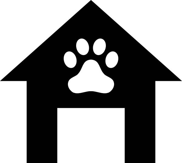 House clipart black and white outline image black and white download Dog House Clipart Black And White | Clipart Panda - Free Clipart Images image black and white download