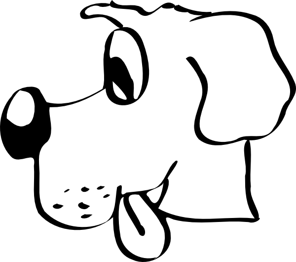 Dog with tongue out clipart