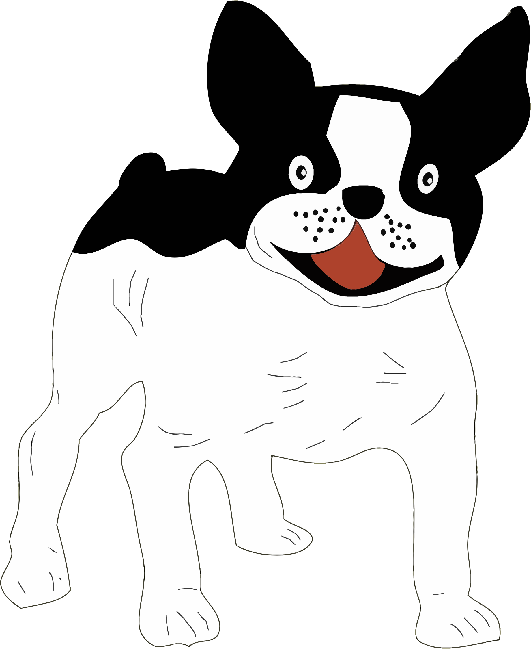 Dog clipart black and white transparent clipart freeuse stock Clipart - Black And White Dog clipart freeuse stock