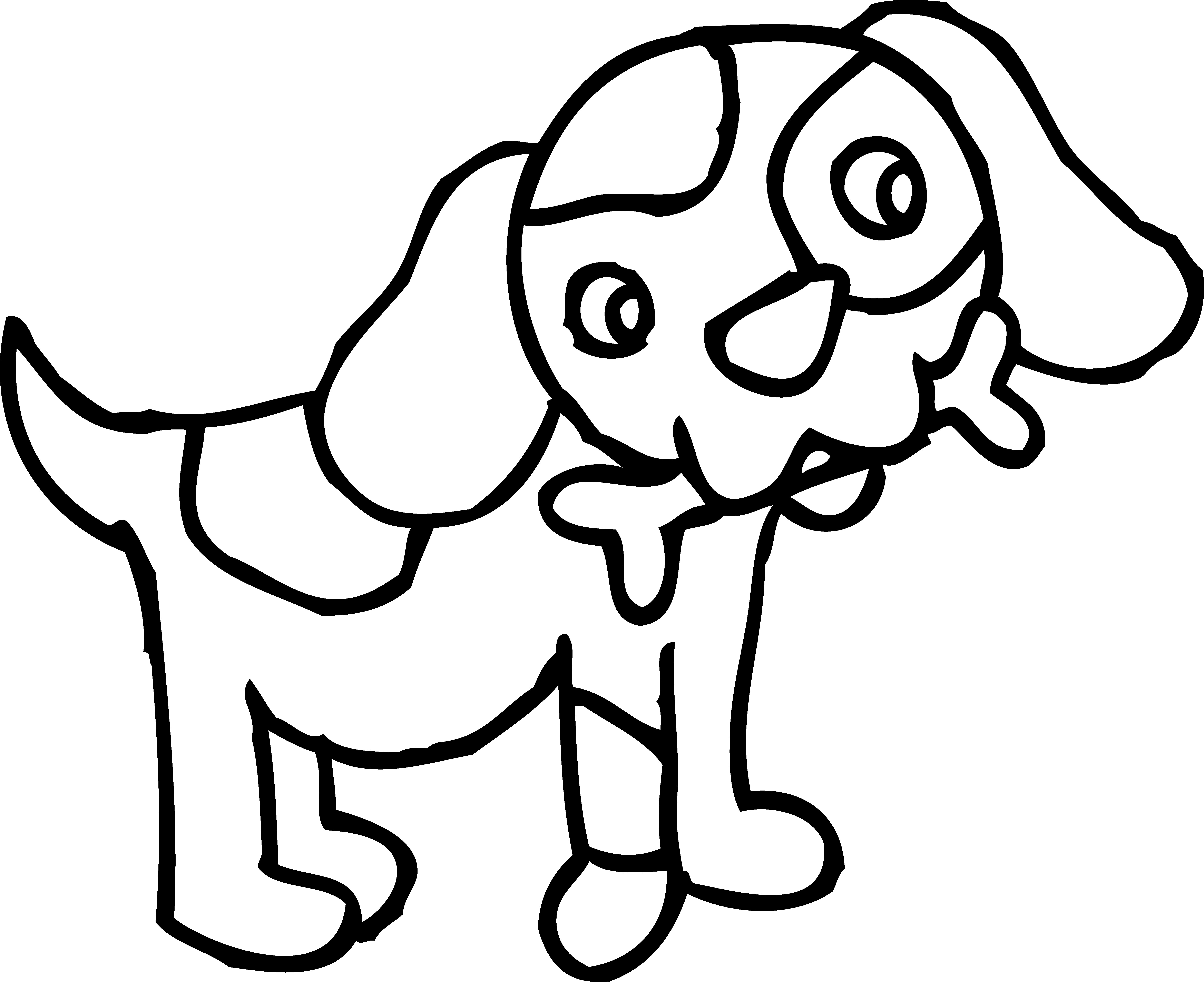 Pet black and white. Dog digging clipart