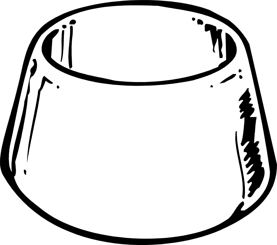 Black and white dog clipart free image transparent library Dog Bowl Black And White Clipart image transparent library