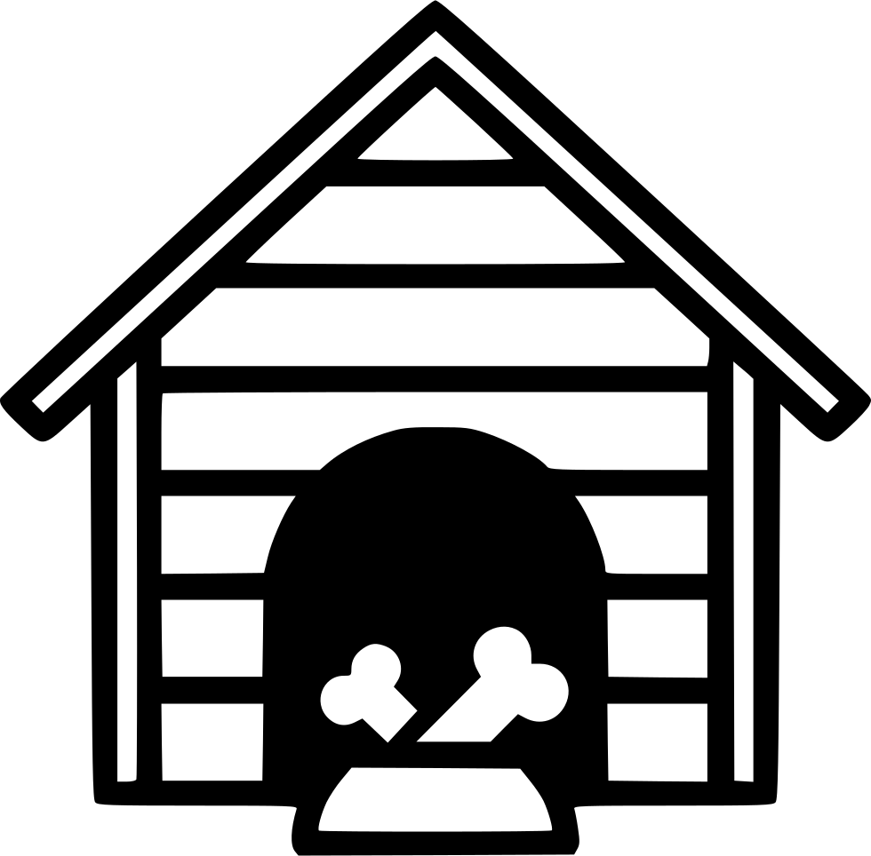 Black and white dog house clipart banner freeuse stock Dog House Svg Png Icon Free Download (#568672) - OnlineWebFonts.COM banner freeuse stock