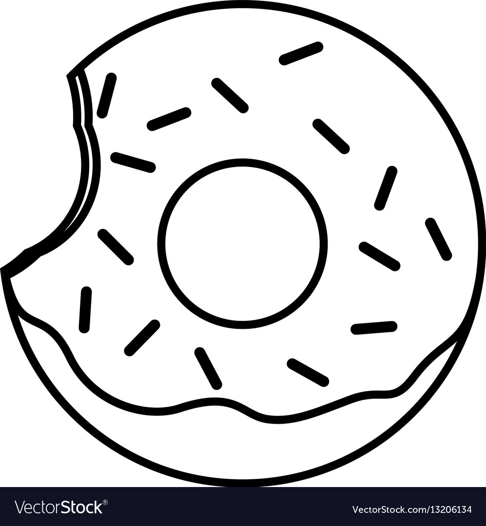 White donuts clipart graphic free stock Donut With Sprinkles Png Black And White & Free Donut With Sprinkles ... graphic free stock