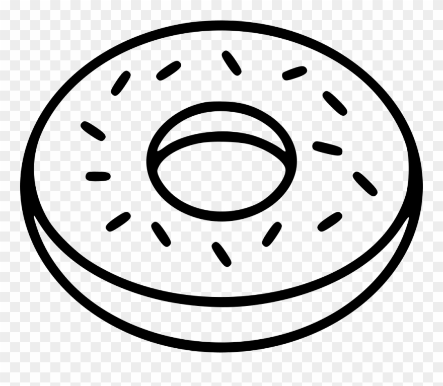 White donuts clipart vector free stock Donut Comments - Doughnut Clipart Black And White - Png Download ... vector free stock