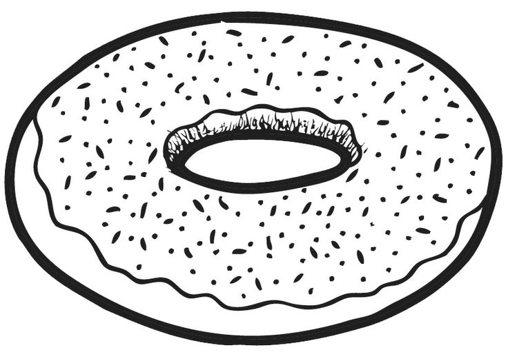 Black and white donut clipart image Donut clipart black and white 6 » Clipart Station image