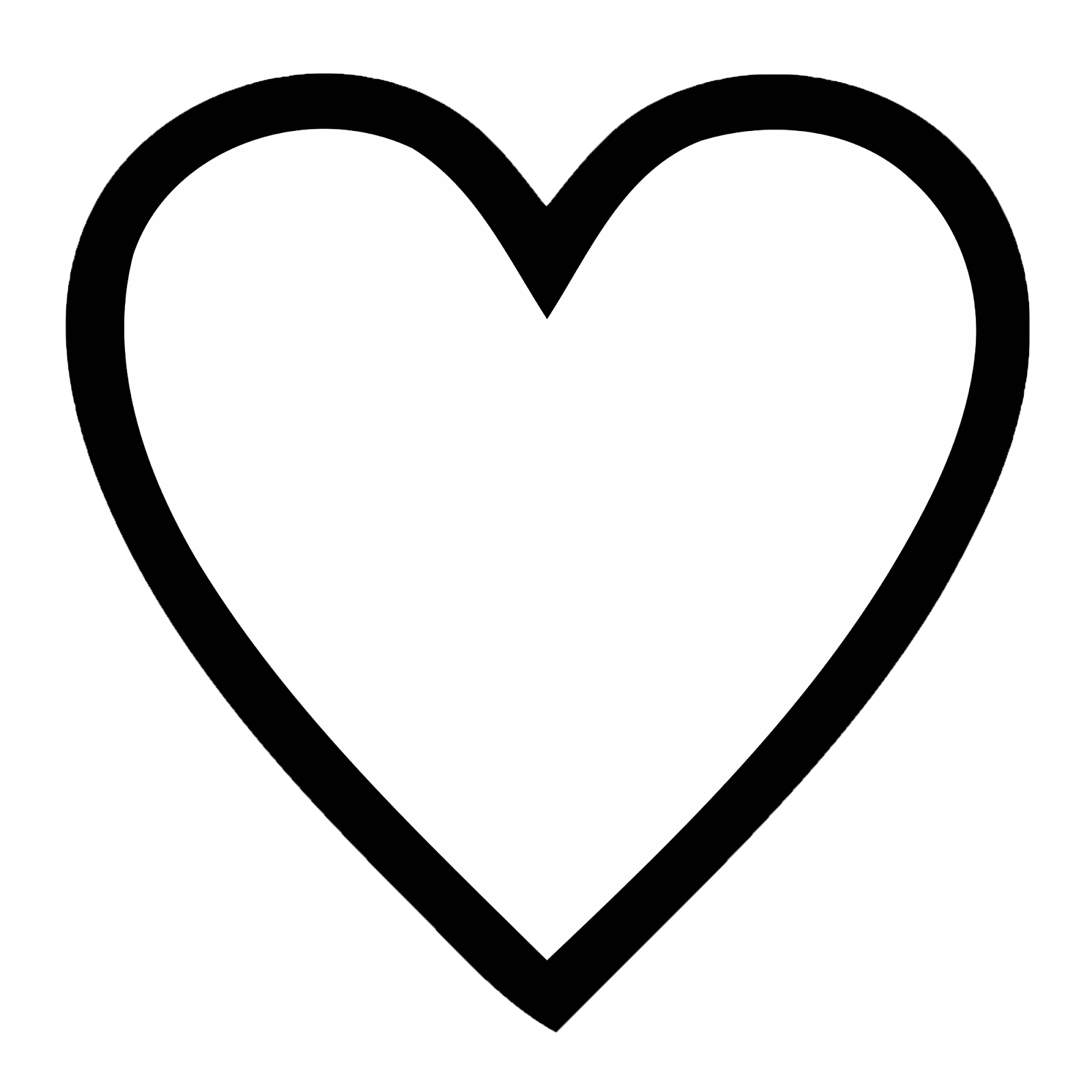 Black and white double heart clipart vector transparent library Open heart outline clipart vector transparent library